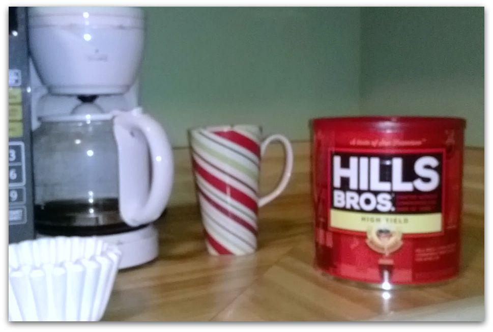 happier drinking coffee